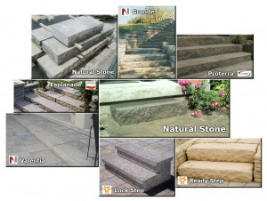 Natural Stone and PreCast Steps